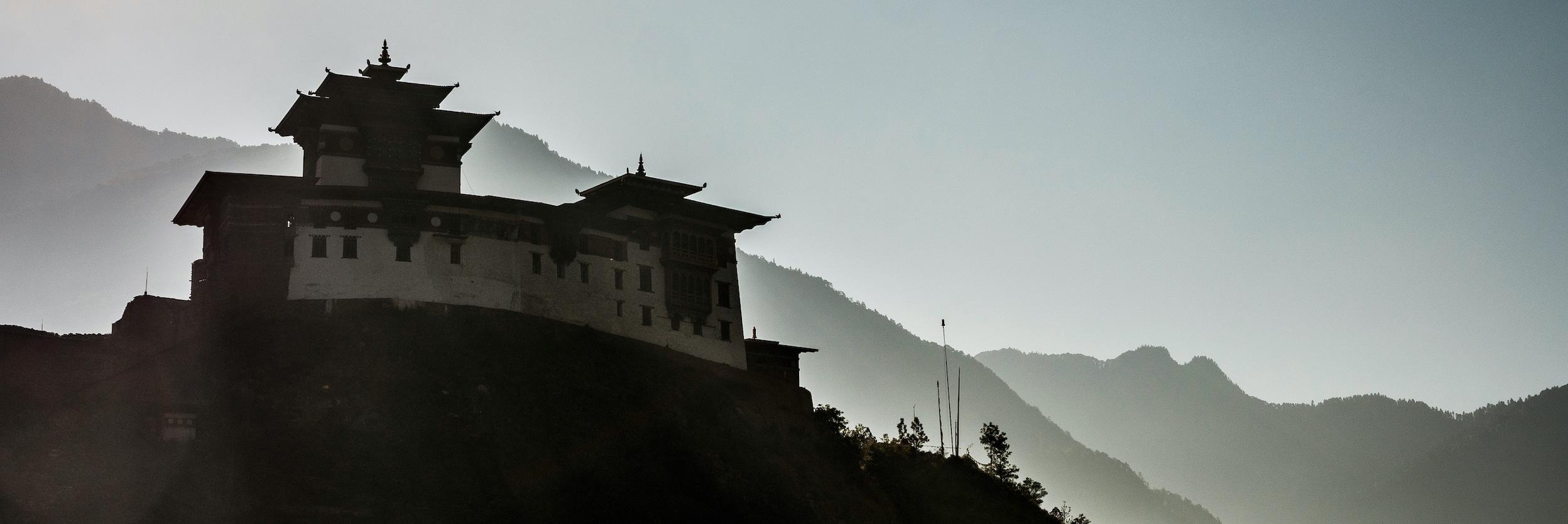 Mountain bike tours, Bhutan monastery