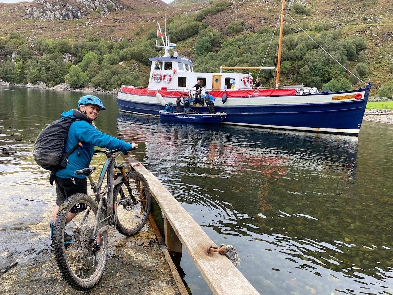 Highland MTB adventure, bikes and boats