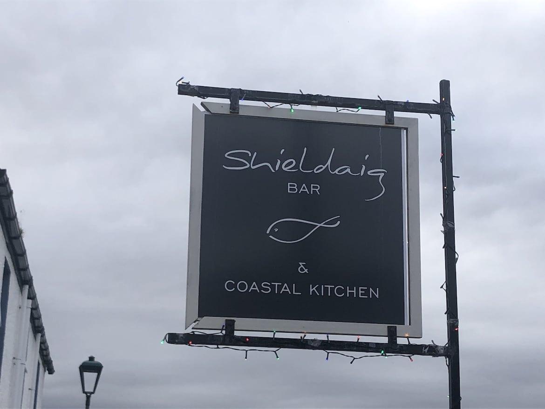 Highland MTB adventure, restaurant sign