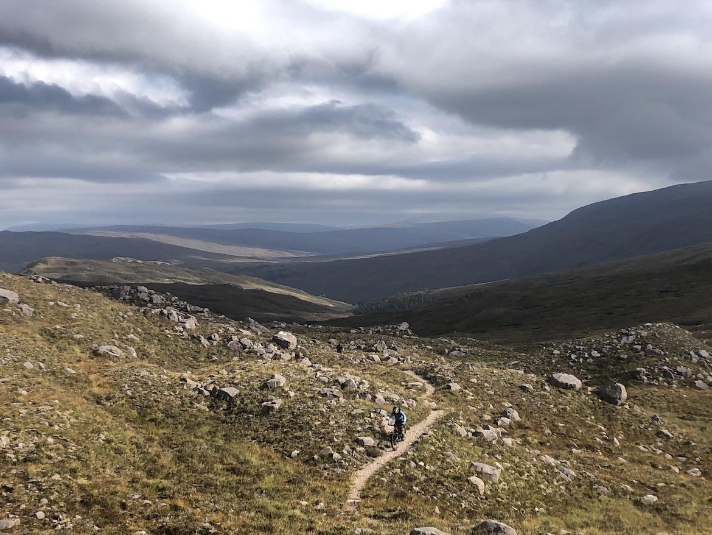 Highland MTB adventure, mountain biker in Torridon