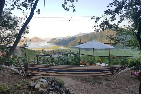 Taking time to relax on our E-MTB Tour Montenegro
