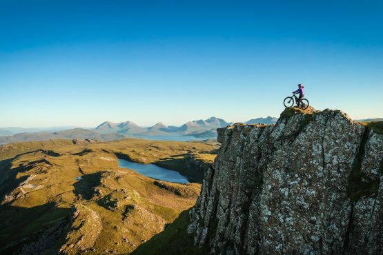 Taking in the views, MTB tour Skye + Raasay