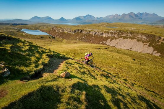 Super fun singletrack, MTB tour Skye + Raasay