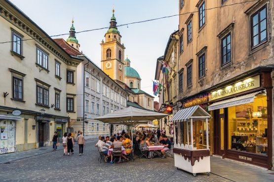 Explore the old town of Ljubljana, MTB + Wine Tour Slovenia