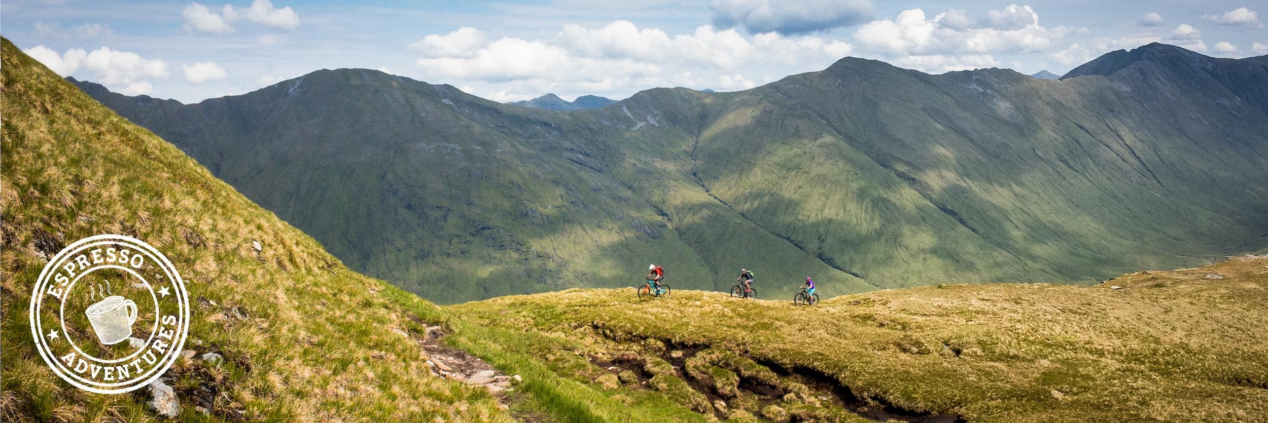 Mountain Bike Tours, mountain bikers in Scotland