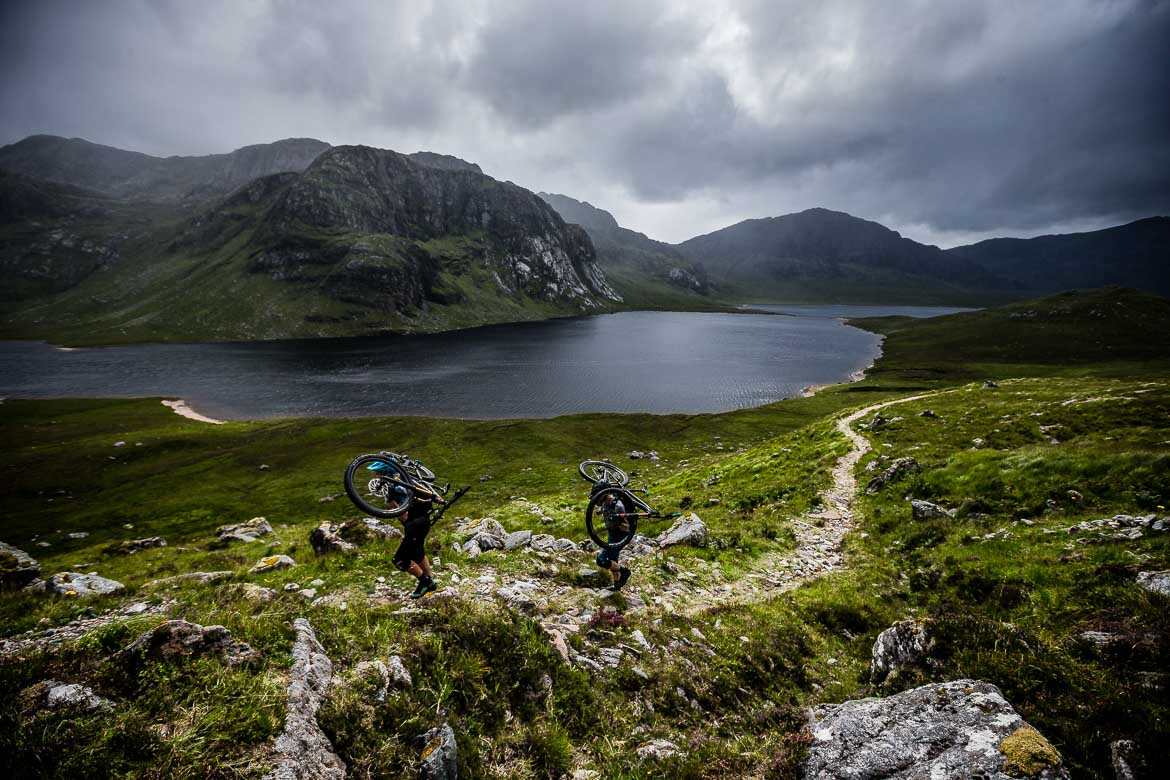 Favourite moments of adventure, hike-a-biking in Scotland